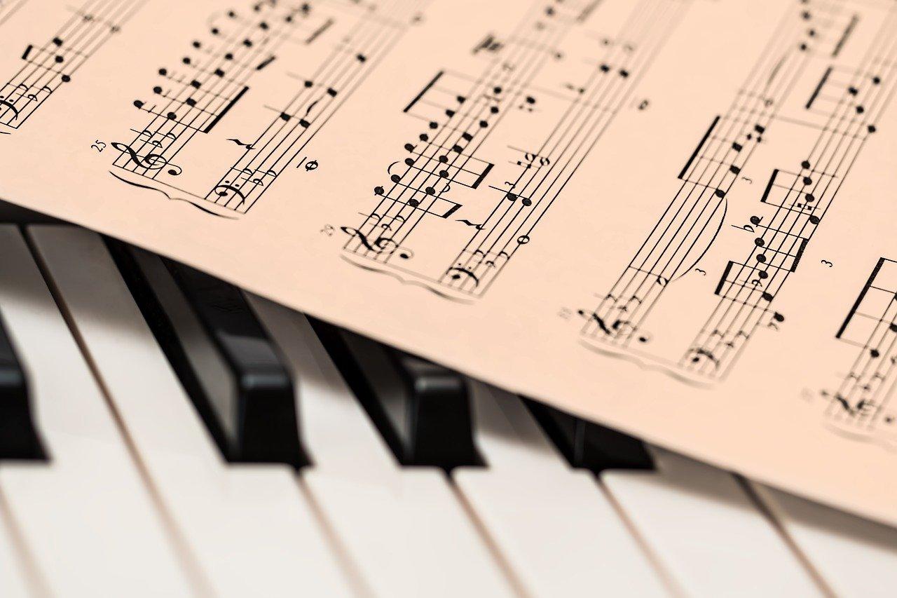 piano, sheet music, music